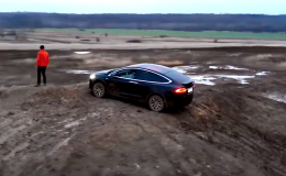 Tesla Model X, off-road, česko, elektromobil Tesla